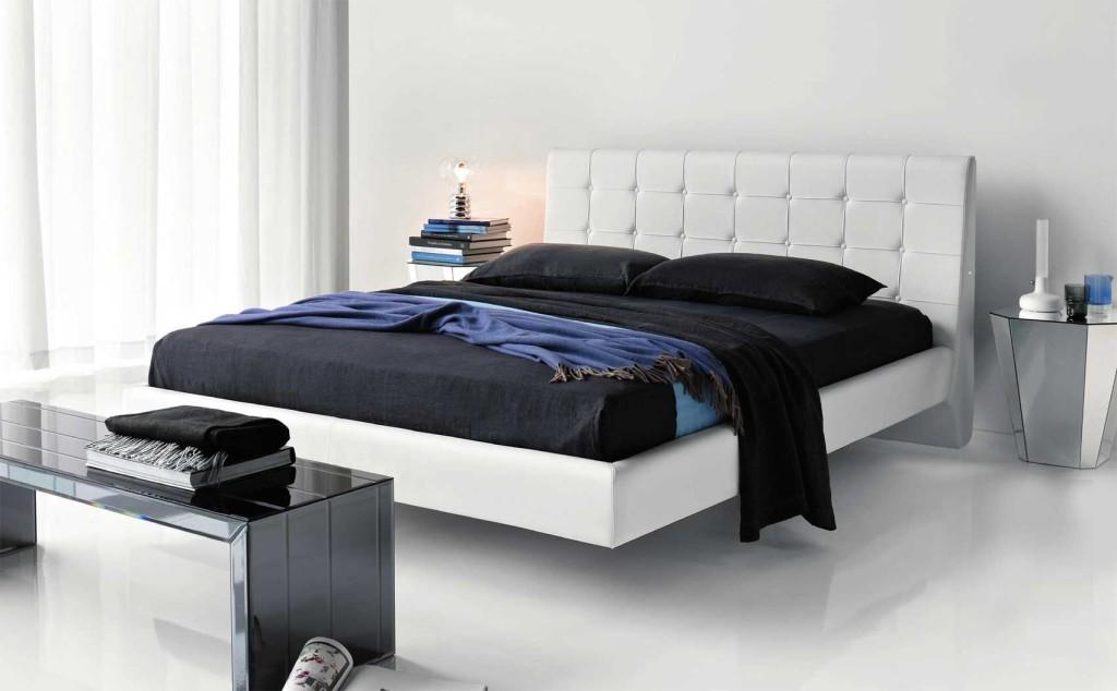 Белая мебель в интерьере спальни
