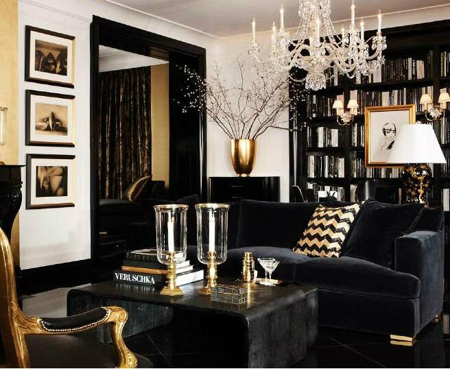 бархатный черный диван