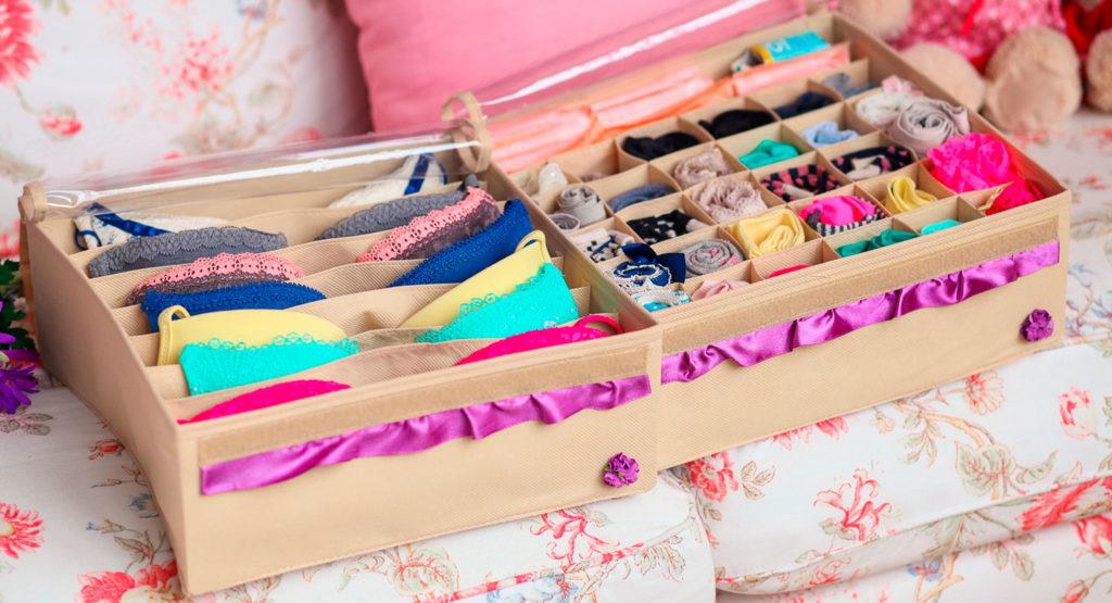 Системы хранения нижнего белья: наводим порядок в бельевых шкафчиках